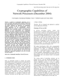 Cryptographic Capabilities of Network Processors