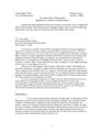 Five-Page Policy Memorandum