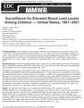 Surveillance for Elevated Blood Lead Levels Among Children