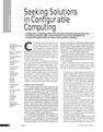 Seeking Solutions in Configurable Computing