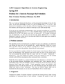 Problem Set 1- Intercity Passenger Rail Schedules