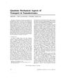 Quantum Mechanical Aspects of Transport in Nanoelectronics