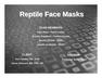 Reptile Face Masks