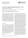 Land-surface Modelling in Hydrological Perspective – A Review