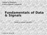 Fundamentals of Data & Signals