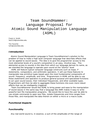 Language Proposal for Atomic Sound Manipulation Language