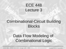 Lecture 3 Combinational-Circuit Building Blocks