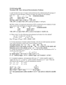 Advanced Electrochemistry Problems
