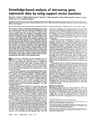 Knowledge-based analysis of microarray gene expression data