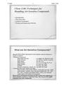 Techniques for Handling Air Sensitive Compounds