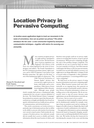 Location Privacy in Pervasive Computing