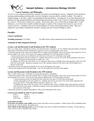BIOLOGY 151 Syllabus