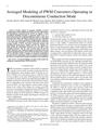 Averaged Modeling of PWM Converters Operating