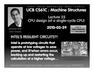 Lecture 25 CPU design