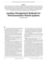 Location Management Methods for Third-Generation Mobile Systems