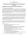 Planning and Analysis Tools of Transportation Demand and Investment