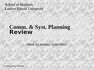 CIS 3200 Comm. & Syst. Planning ReviewC
