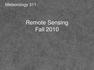 Remote Sensing_2010