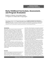 Early Childhood Curriculum, Assessment, and Program Evaluation