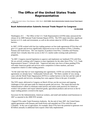 USTR Press Release on Annual Trade Rpt.3-08