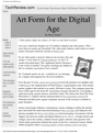 Art Form for the Digital Age
