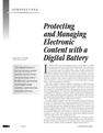 Protecting and Managing Electronic Content with a Digital Battery