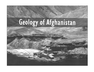 Geology of Afghanistan