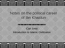 Notes on the political career of Ibn Khaldun