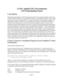 GY461 Applied GIS: Environmental GIS Programming Project