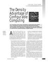 The density advantage of configurative computing