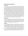 Programmable Logic Design – I