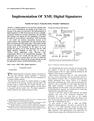 Implementation Of XML Digital Signatures