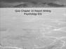 QUIZ - PSY 631