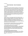 Bomb Calorimeter Heat of Combustion