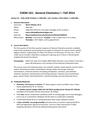 CHEM 161 Syllabus