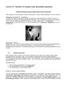 Genetics of complex traits (quantitative genetics)