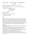 CHEMISTRY 260/261 Syllabus