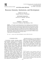 Resource Intensity, Institutions, and Development