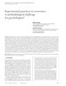 Experimental Practices in Economics