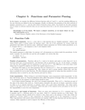 Functions and Parameter Passing