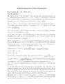 Problem Set 8 - Part II Solutions