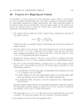 CONTROL OF A HIGH-SPEED VEHICLE
