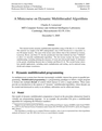 Minicourse on Dynamic Multithreaded Algorithms