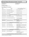 Zoology 102 Laboratory Schedule