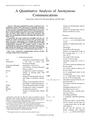 A Quantitative Analysis of Anonymous Communications