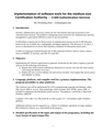 Implementation of software tools for the medium-size Certification Authority