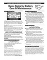 Basic Rules for Battery Care & Maintenance