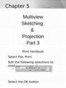 Multiview Sketching & Projection