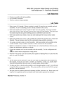 Lab Assignment 3 – Assembly Modeling
