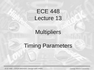 Lecture 13 Multipliers
